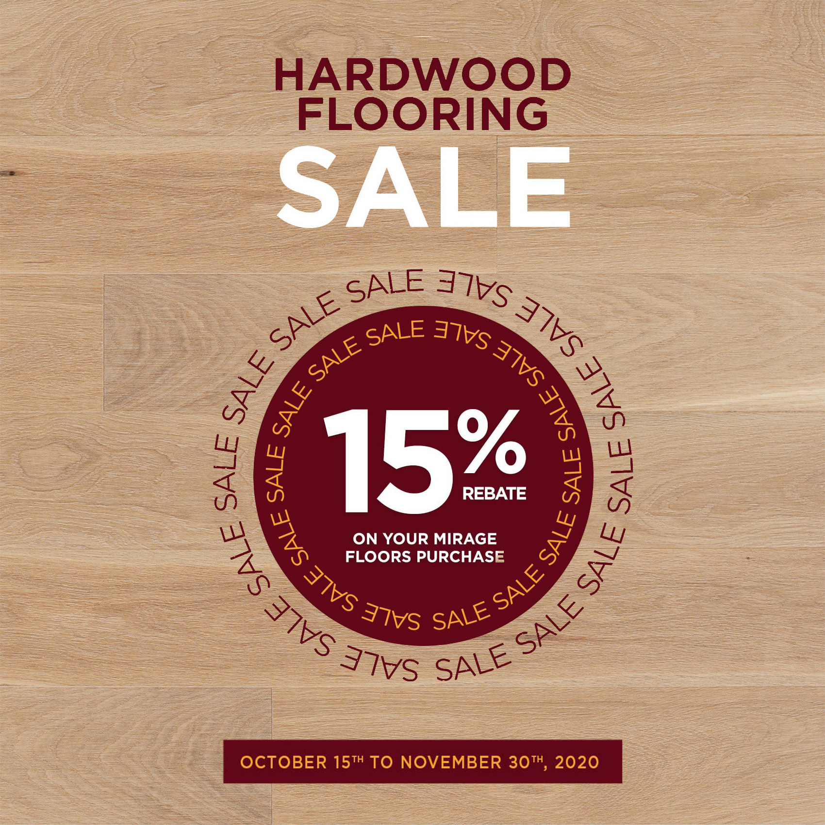Mirage Hardwood Flooring Sale